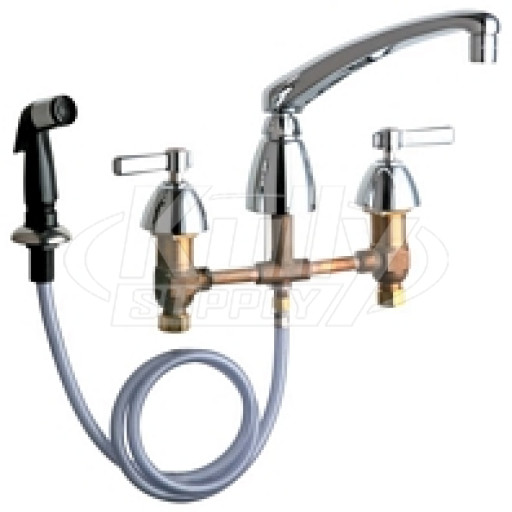 Chicago 200-AL8ABCP E-Cast Concealed Kitchen Sink Faucet w/ Side Spray