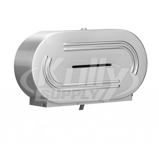 Bradley 5425 Surface Mount Double Jumbo Roll Toilet Paper Holder ...
