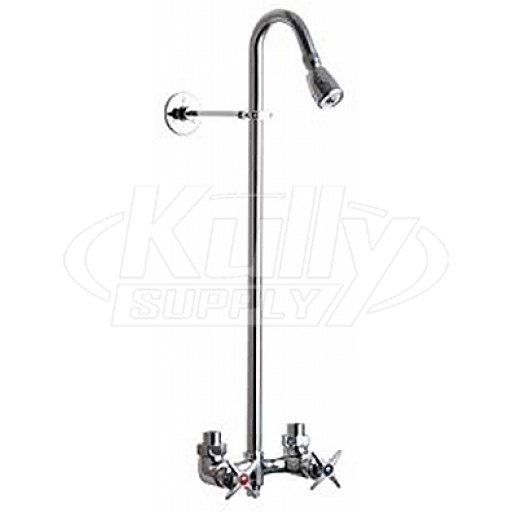 Chicago 752 Cp Exposed Two Valve Shower Faucet