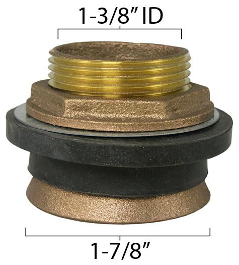 Urinal Spud For 1 25 Quot Vacuum Breaker Tube Kullysupply Com