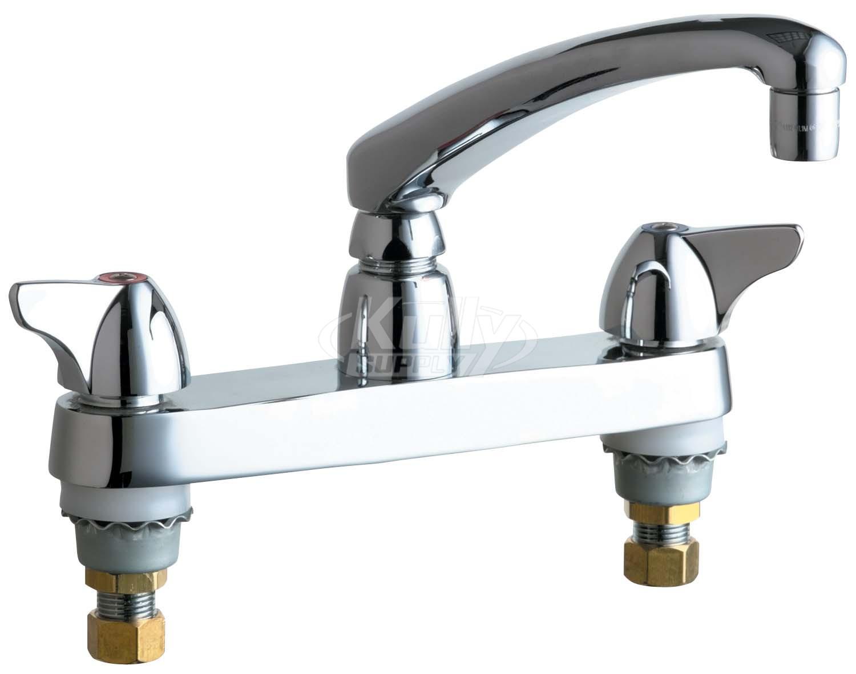 Chicago 1100-ABCP E-Cast Kitchen Sink Faucet, Cast Swing Spout ...