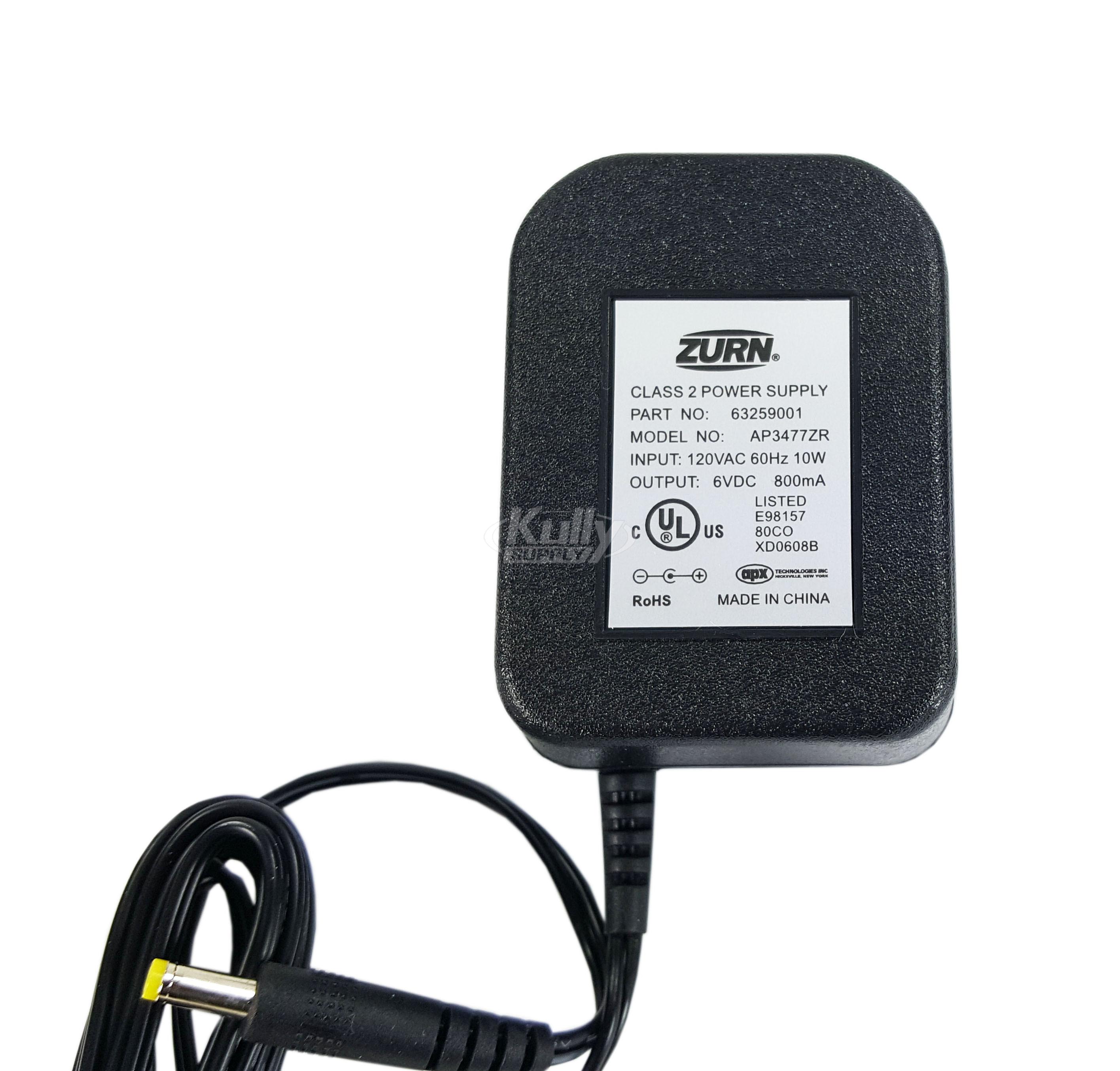 Zurn P6900-ACA Plug-In Power Converter 6 VDC (for Z6912, Z6913 ...