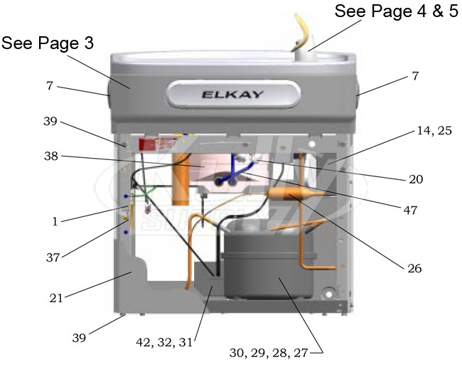Elkay Ezf S Drinking Fountain Parts Breakdown