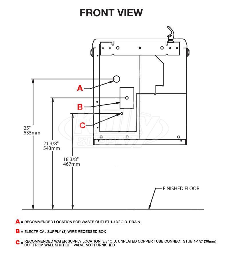 halsey taylor hac8pv nf drinking fountain kullysupply com rh kullysupply com Solarix PRS 1515 Wiring-Diagram halsey taylor water fountain wiring diagram