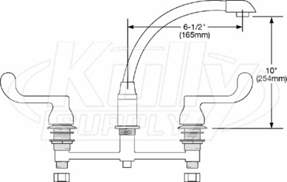 Elkay Lkd2438bh Dual Handle Kitchen Faucet Kullysupply Com