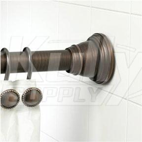 Speakman S 37664rbsb Finial Shower Rod Oil Rubbed Bronze