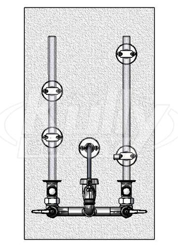 T Amp S Brass B 0662 Service Sink Faucet Kullysupply Com