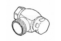 "Sloan NH-710-AGS Naval Brass NPSM Inlet (for Ground Joint Tail 1"")"