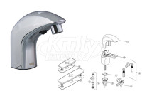 Zurn Z6919 AquaSense Faucet Parts Breakdown