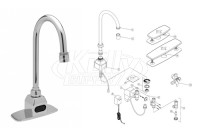 Zurn Z6920 AquaSense Faucet Parts Breakdown