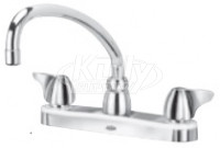 "Zurn Z871J3-XL AquaSpec 8"" Center Deck Mount Faucet"