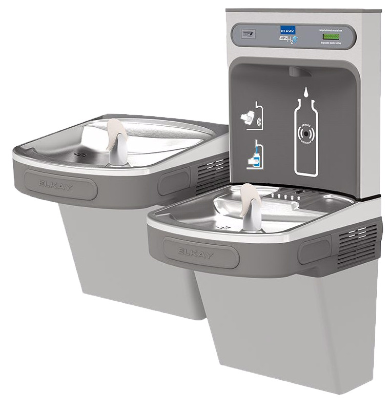 Elkay Ezh2o Ezstl8wslk Dual Drinking Fountain With Bottle